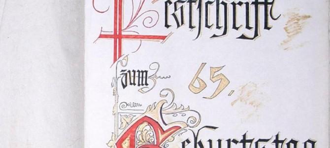 Festschrift zum 65. Geburtstag