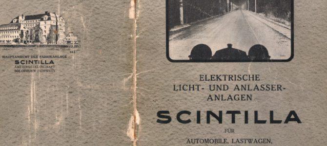 Scintilla – Katalog 1930
