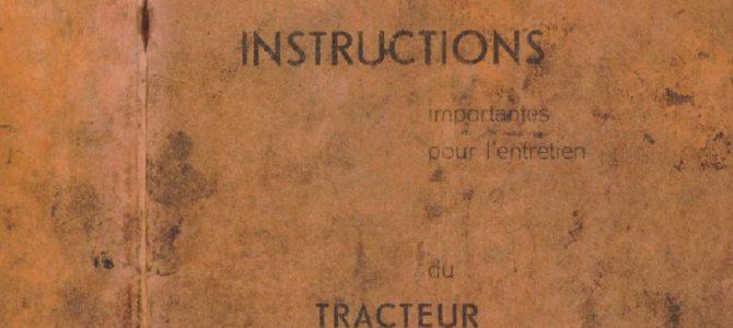 Bedienungs-/ Wartungsanleitung – Lizenz Saurer (fr.)